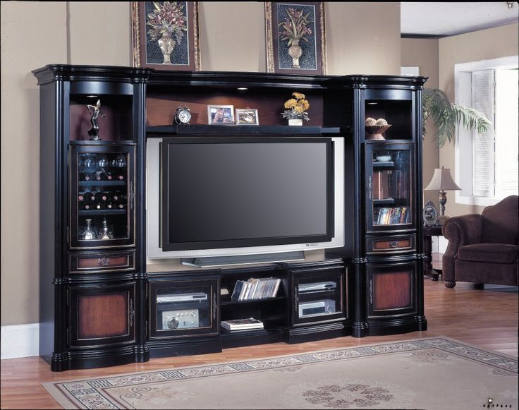 painted entertainment centers | This 4-piece entertainment center from Parker House is made in rural ...