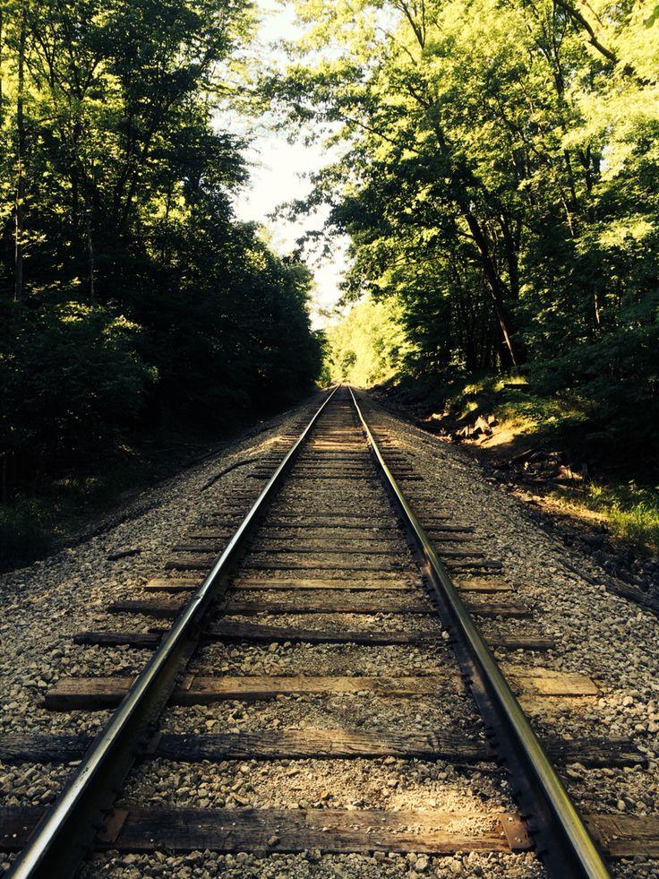 Summer on the train tracks in Medina Ohio