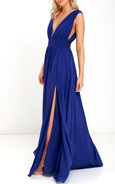 Heavenly Hues Royal Blue Maxi Dress via @bestchicfashion