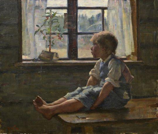 Maria Wiik (1853-1928), Seul à la Maison - 1885