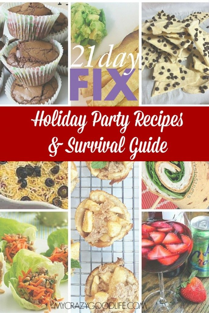 These 21 Day Fix Holiday Recipes for appetizers, cocktails, and desserts will help you stay on track during the eating season!
