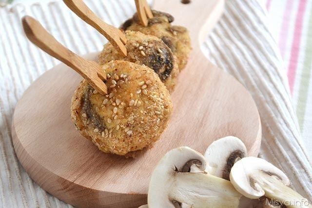 » Polpette di pollo e funghi Ricette di Misya - Ricetta Polpette di pollo e funghi di Misya