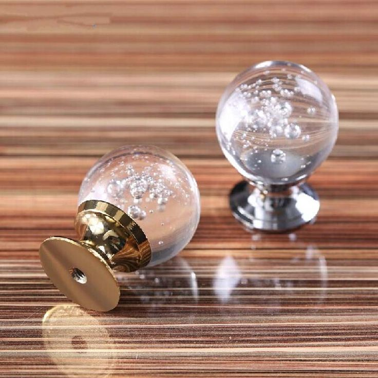 30mm Modern Kitchen cabinet handle bubble crystal drawer knob gold silver tv table dresser cuoboard furniture handle pull knob