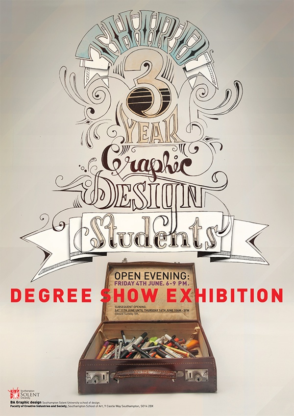 Degree show poster on Behance