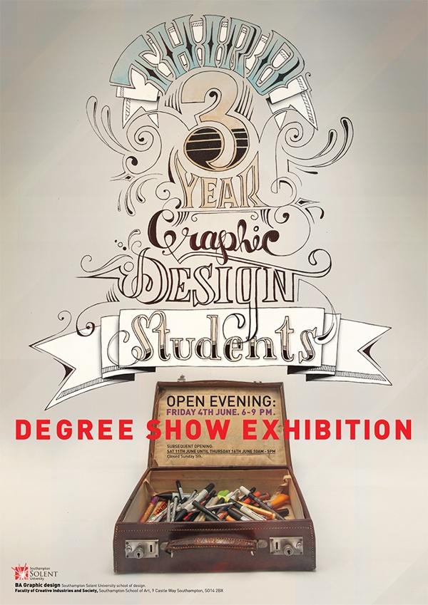 Degree show poster on Behance