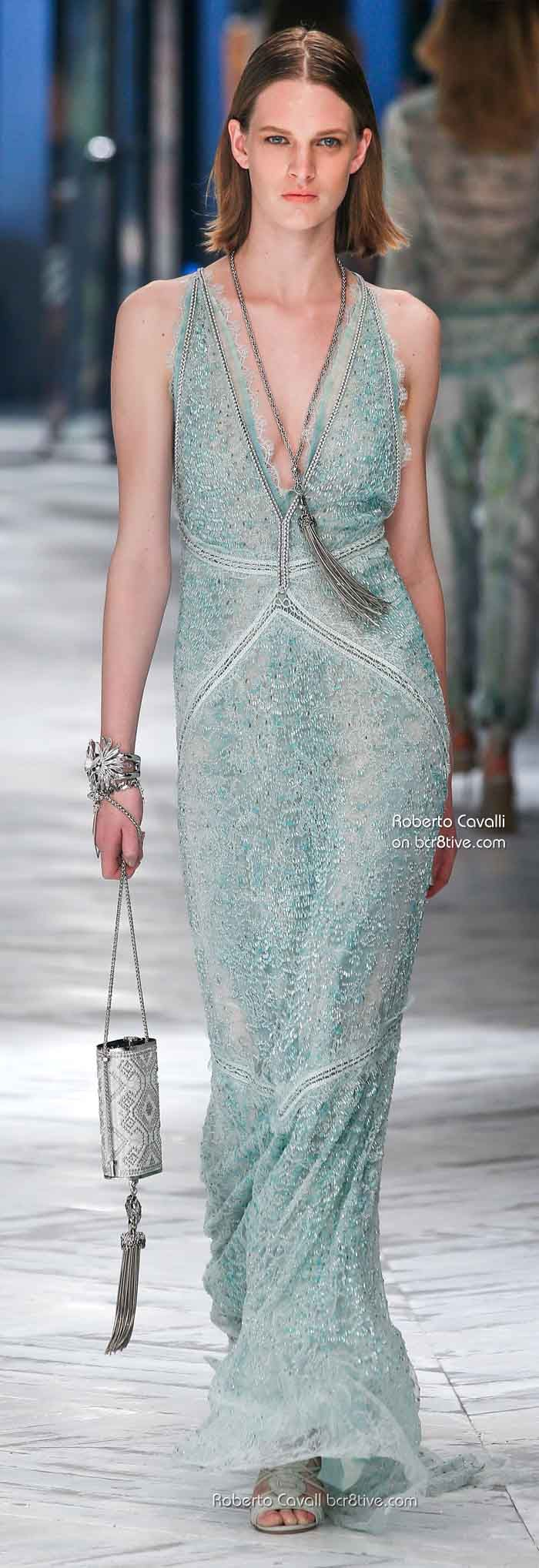 Roberto Cavalli Spring 2014....no need to apologize! He's the ultimate bohemian haute couturier!