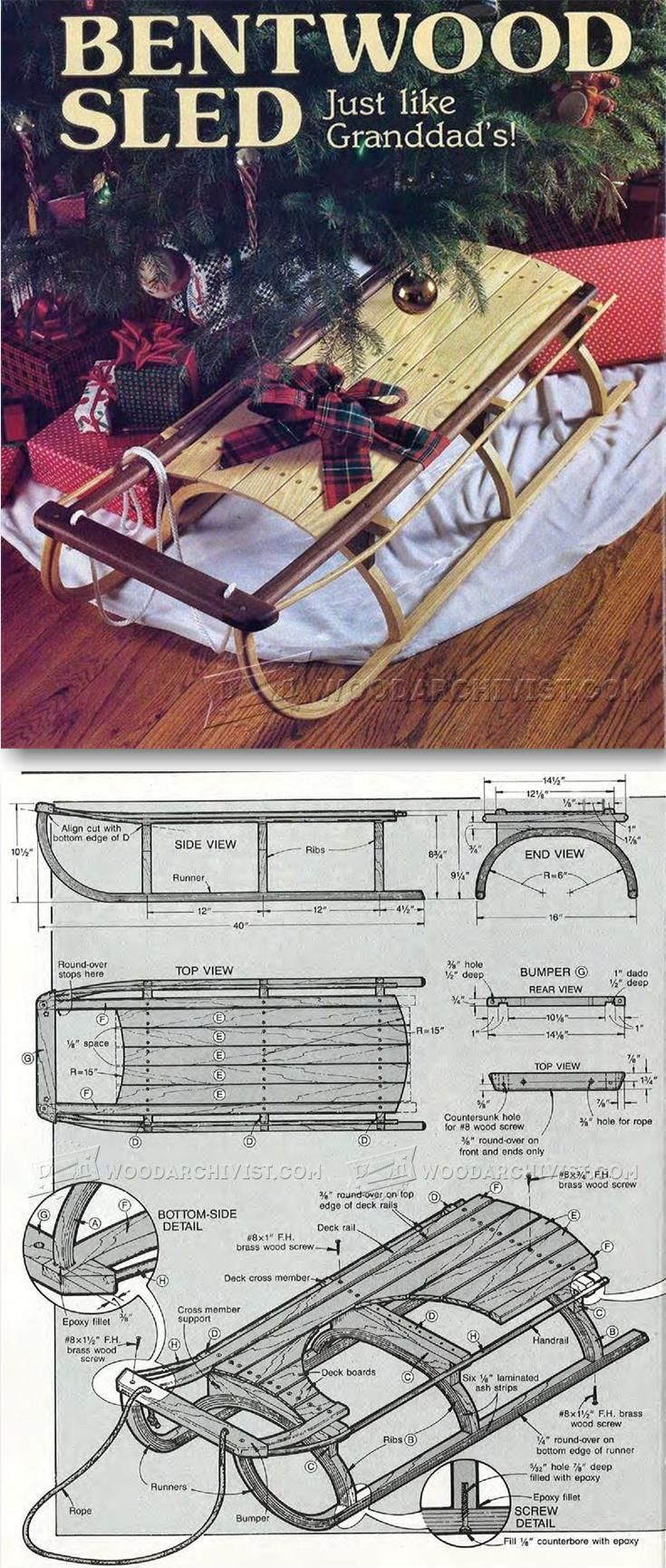Bentwood Sleigh Plans - Children's Outdoor Plans and Projects | WoodArchivist.com