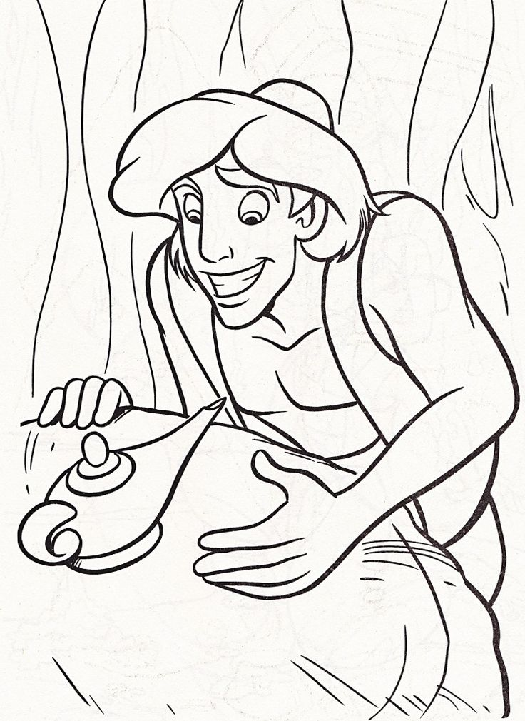 37 best libro colorear aladdin images on Pinterest | Coloring books ...