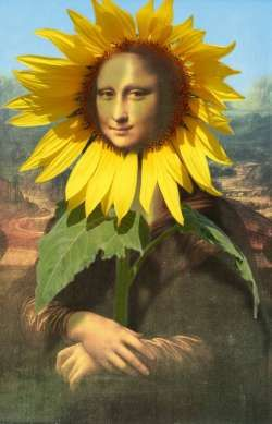 Mona Lisa with sunflower