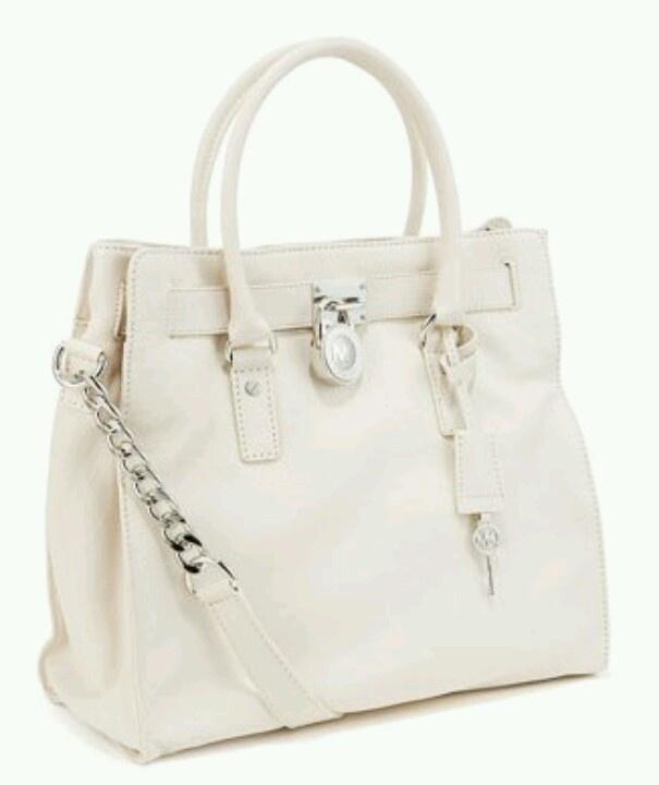 Michael Kors Hamilton White Leather <3