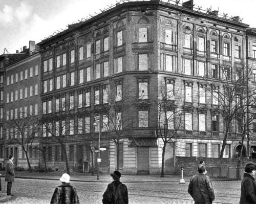 The windows in the buildings on the east side of Bernauer Strasse were bricked up to prevent people from escaping into the street (which was in West Berlin.) Eventually these buildings were demolished to create the death strip.