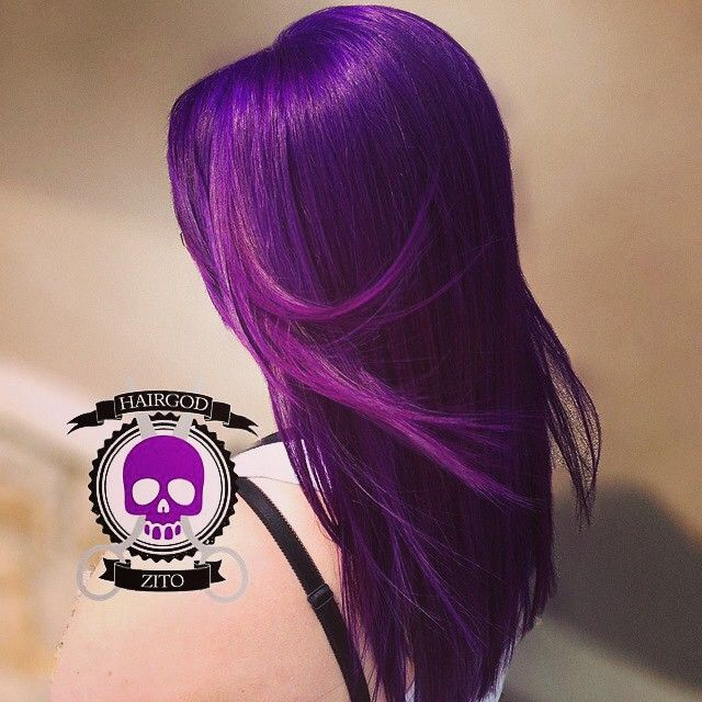 Purple Haze dyed hair from Hair God Zito!