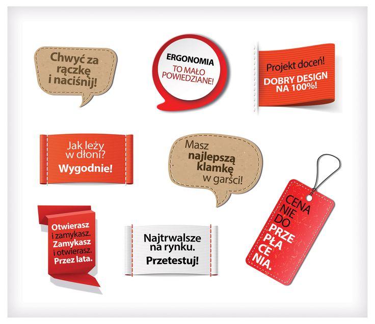 Naklejki na szafy ekspozycyjne w sieciach DIY dla marki klamek Domino