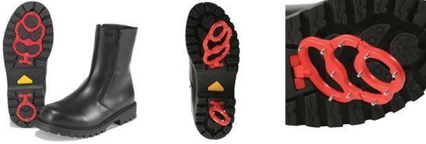 Зимние ботинки с шипами