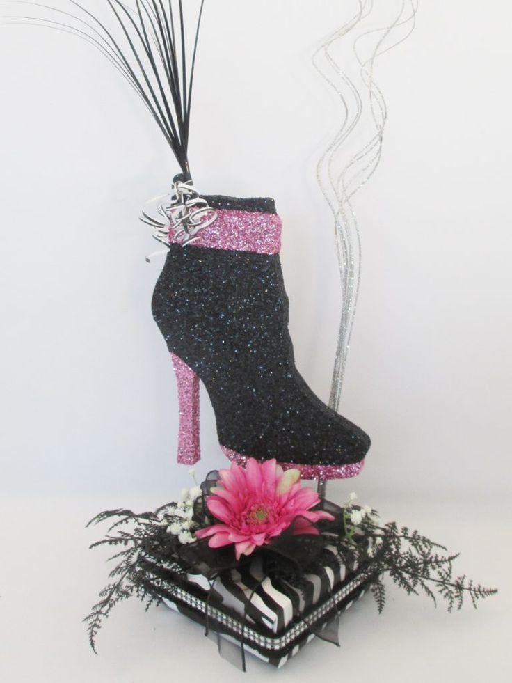 shoe-boot-zebra-centerpiece - 10 Best High Heel Shoe Centerpiece Images On Pinterest High