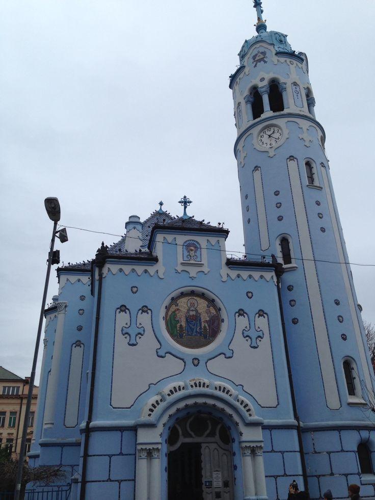 Die blaue Kirche von Bratislava