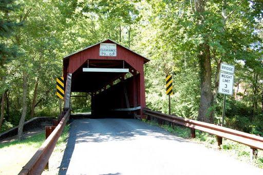 Крытые мосты Пенсильвании - Эстер Фернис (Esther Furnace covered bridge)