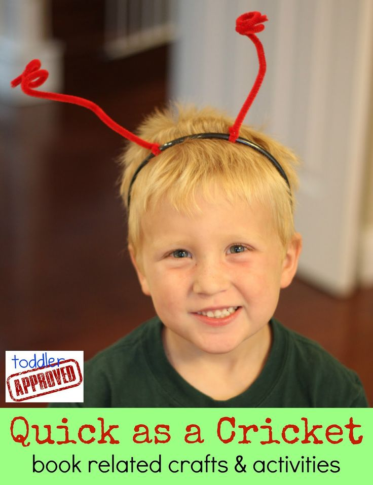 Toddler Approved!: Quick as a Cricket book related crafts and activities.