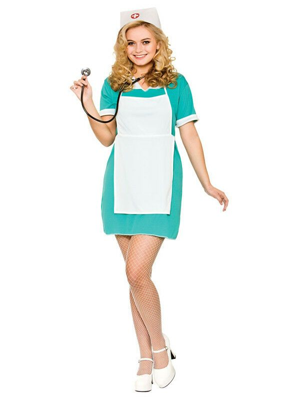 2cf98f1aa50ec Ladies Scrub Nurse Uniform Costume Womens Doctor Adult Fancy Dress New  Outfit#Uniform#Costume#Nurse
