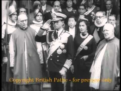 King Bhumibol of Thailand: Audience with Pope John XXIII 1960