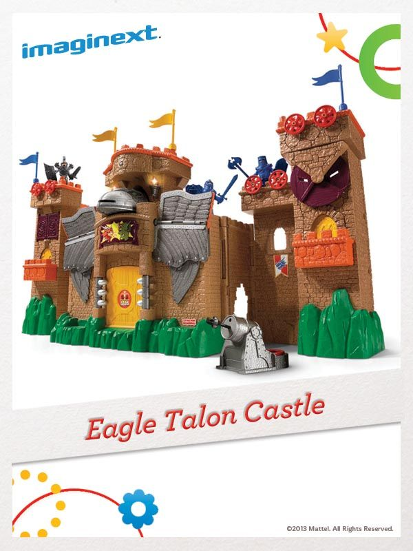 Lock the gate, barricade the windows, and get ready for a medieval battle with the Imaginext Eagle Talon Castle! For a chance to win, click here: http://fpfami.ly/014ez #FisherPrice #Toys #Imagination