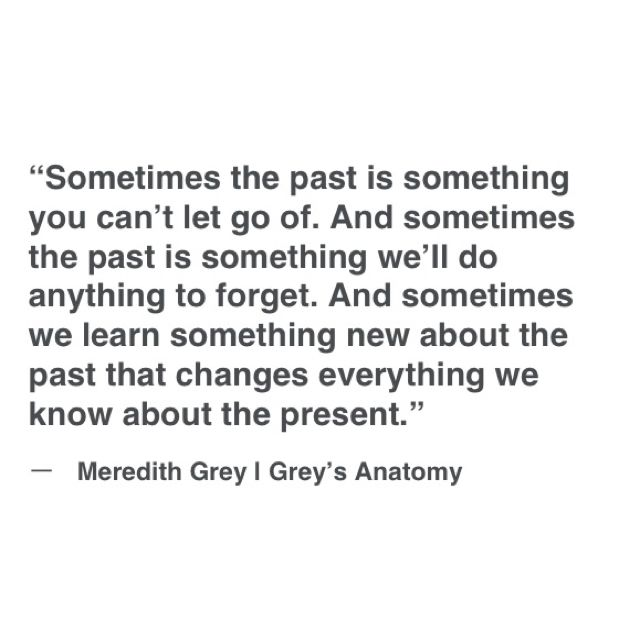 The writers of Grey's are simply amazing.