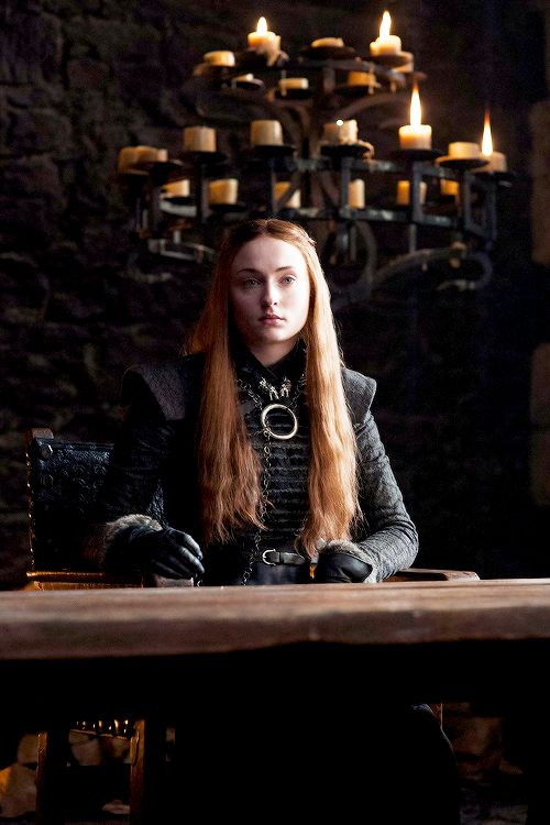 """7.03 """"The Queen's Justice"""" – Sansa Stark at Winterfell."""