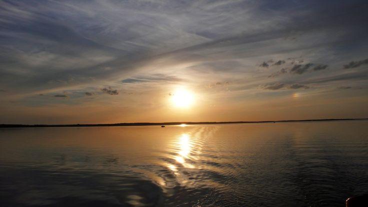 sunset Sniardwy Lake, Mazury