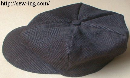 Free tutorial for child's newsboy cap