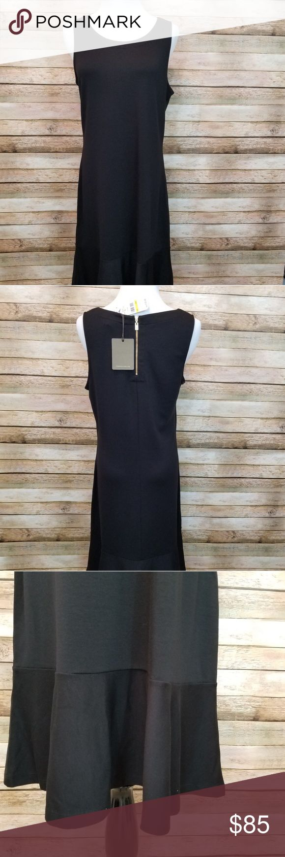 Tommy Bahama black shift dress NWT Tommy Bahama sleeveless black dress.  Exposed... 3