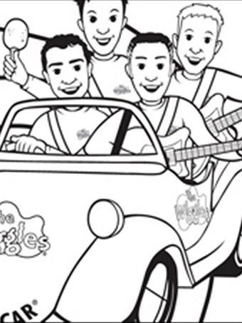 new wiggles coloring pages - photo#36