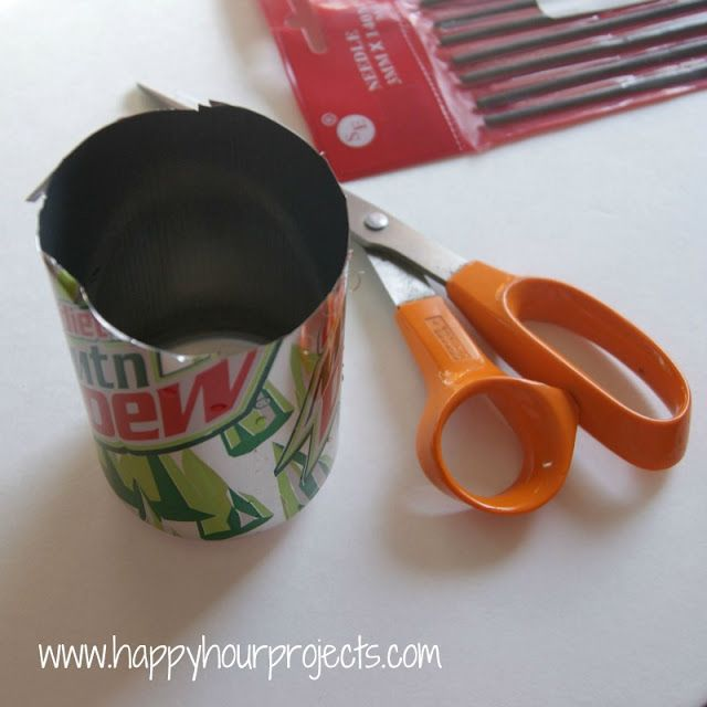 DIY Aluminum Blanks from  SODA CANS - Hand-Stamped Gifts Tags with ImpressArt Metal Stamps - happyhourprojects.com
