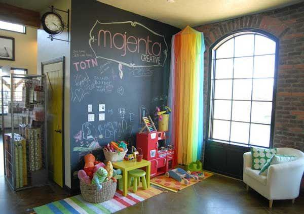 γωνια του σπιτιου η παιδικο δωματιο με μαυροπινακα