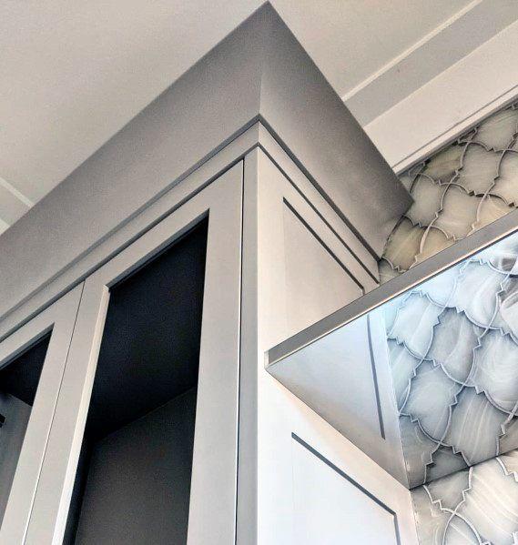 Grey Kitchen Cabinet Modern Crown Molding Crown Molding Kitchen Kitchen Cabinet Crown Molding Cabinet Molding
