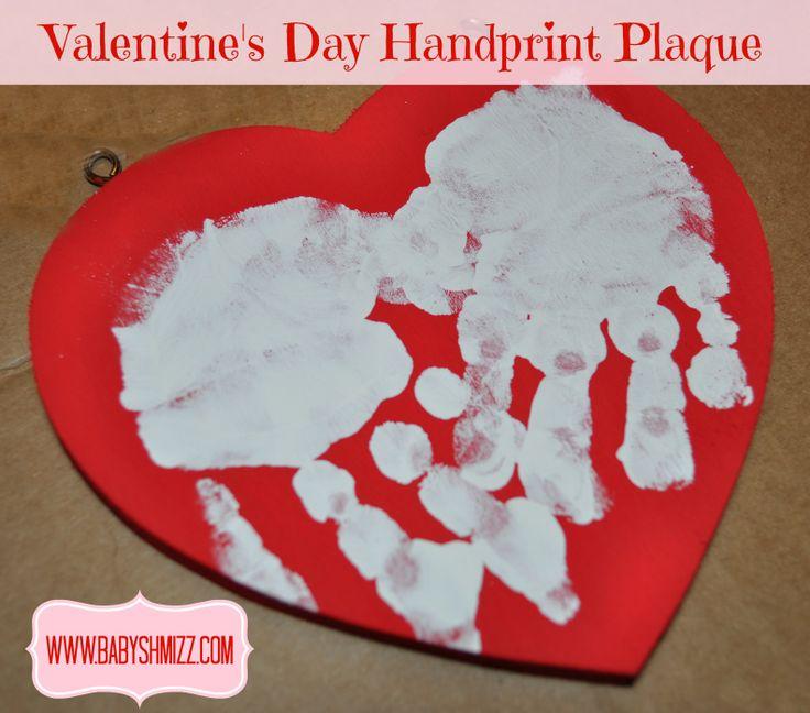 Valentine's Day Handprint Plaque