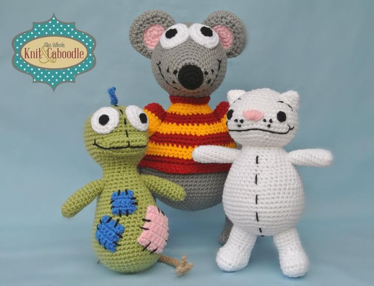 Toopy, Binoo and Patchy Patch Fabulous Friends Combo Pack pattern on Craftsy.com