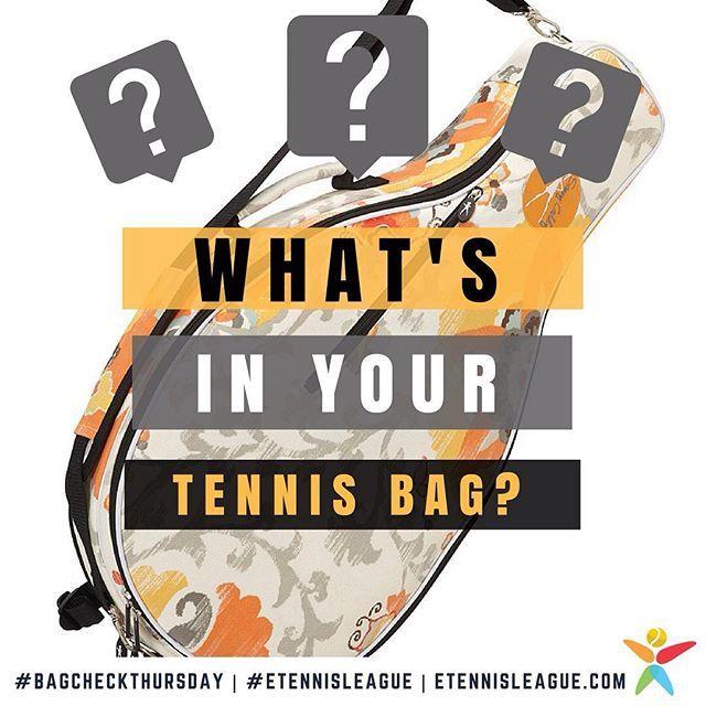 Hey guys, you know what time it is right? 😊 DM pics or videos! 🎒⠀ #etennisleague #bagcheckthursday #bagchekers #tennisbag #tennisgear #tennisequipment #tennisshoes #tennisracket #tennisball #tennis