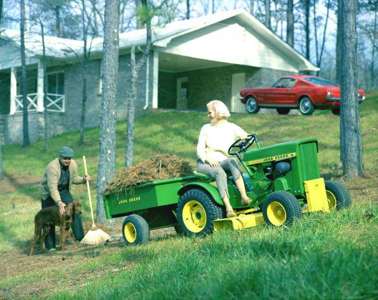 Mustang 1965 John Deere Lawn mower Ad.
