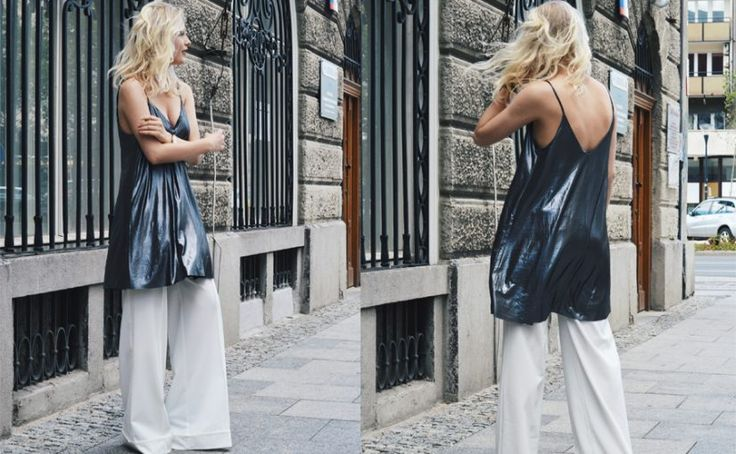 Eleganckie spodnie palazzo w stylizacji na środę od @olaakowalska 😍  Podoba Ci się - daj serduszko ❤