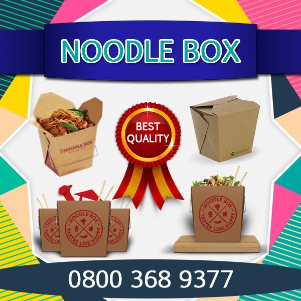 Get printing Noodle Box on bestcustomboxes as you want such as company name, logo,etc at competitive prices in UK. Call them for your order 0800 368 9377 visit website.