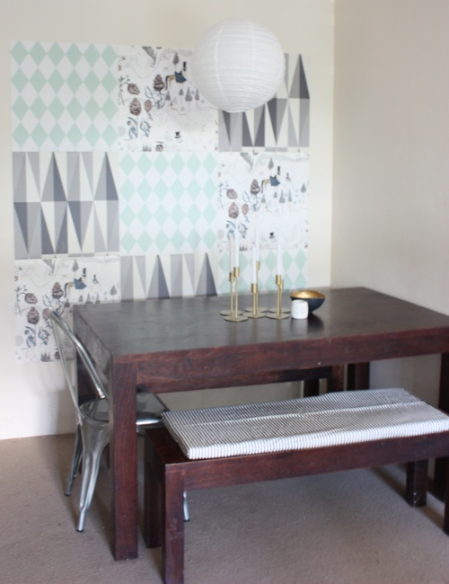 Renters Wallpaper Mosaic Made With Samples And Brass