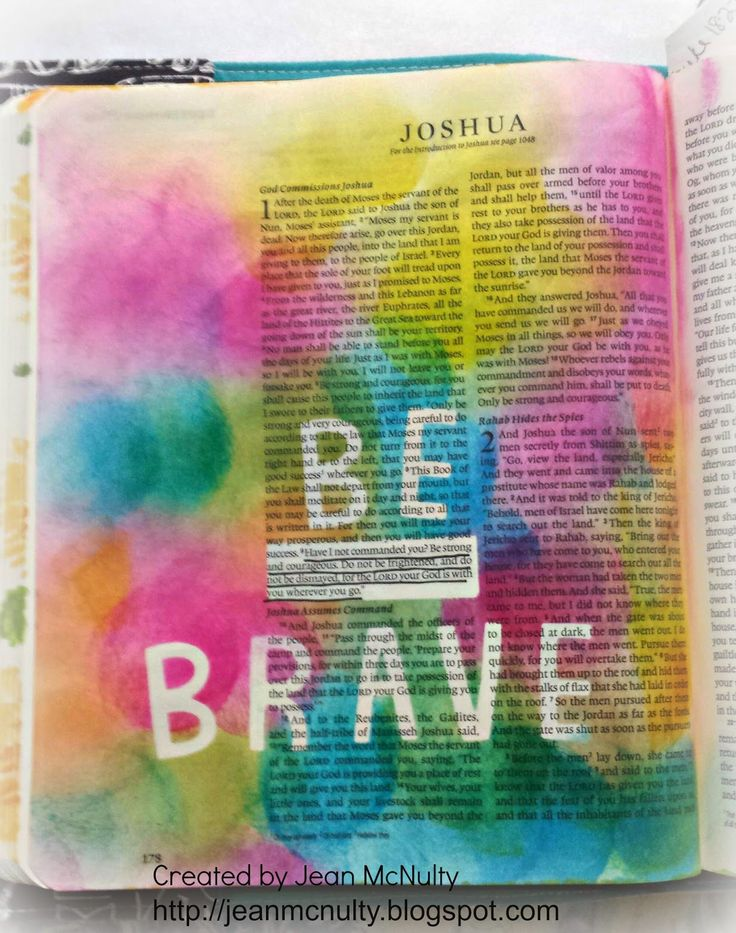 This, I think, would look better in the margin next to the verse. I don't particularly want to paint all over my Bible... Just the margin :)