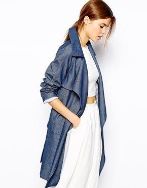 インディゴブルーでキレイめコーデ。冬のファッションアイテム デニムコート コーデを集めました♪