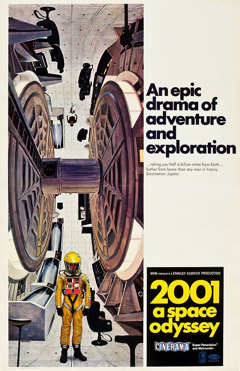 2001: A Space Odyssey (1968) - Cinerama movie poster designed by Robert T. McCall.