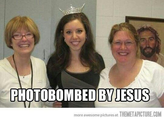 Photobombed by Jesus