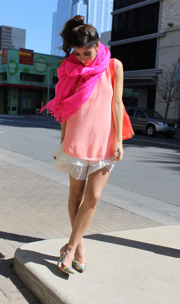 sxsw: layering brights is in - via The Darling Detail blog.