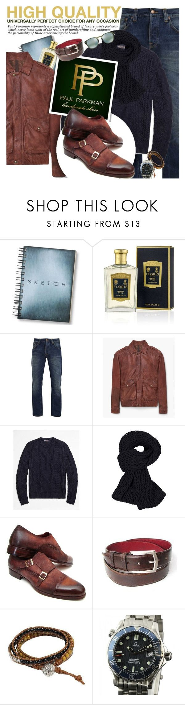 """PAUL PARKMAN - High quality shoes and belts!"" by anita-n on Polyvore featuring Floris, Nudie Jeans Co., MANGO, Brooks Brothers, NOVICA, OMEGA, Oakley, women's clothing, women's fashion and women"