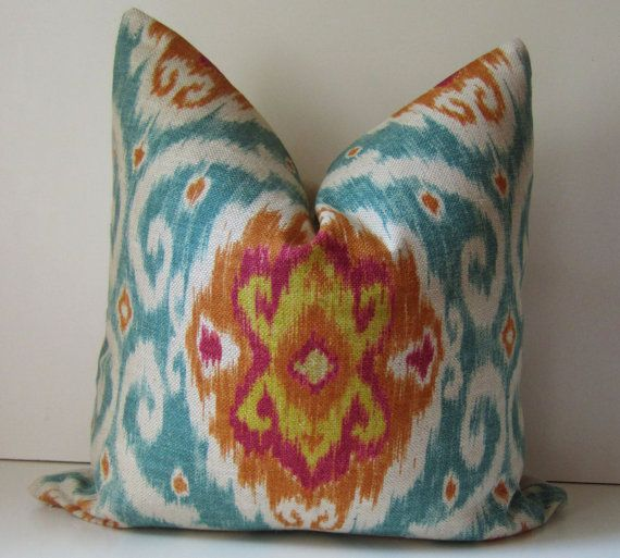Ikat Pillow  Decorative pillow cover  20 inch  by studiotullia, $48.00