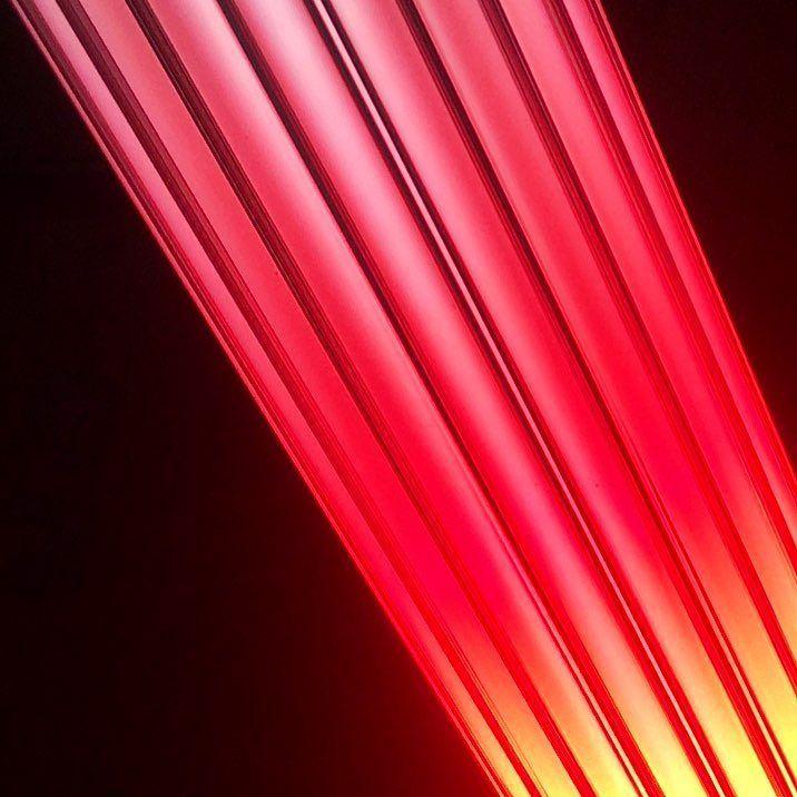 Late-night studio messing #bespokelighting #lightsculpture