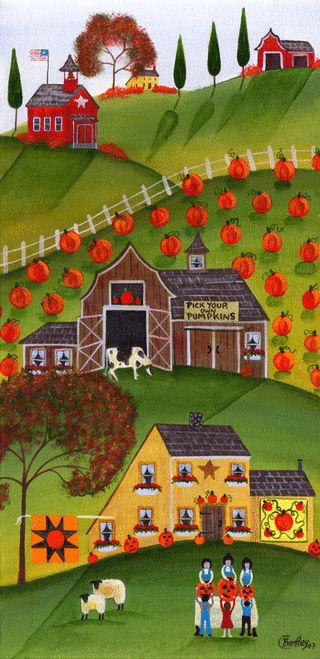 Pick your own Pumpkins with sheep & cow